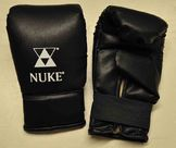 Nuke punch bag gloves, artificial leather, black, sizes S - XL