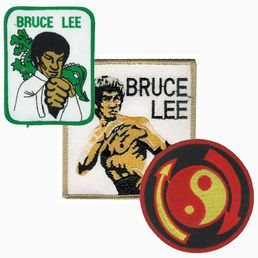 Badge Bruce Lee, different themes