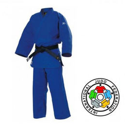 Mizuno Yusho 750g (IJF Approved - Red Label) Judo Suit, blue